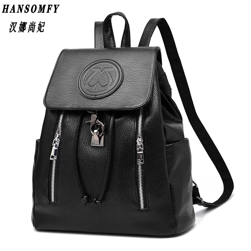 100% Genuine leather Women backpack 2017 New female backpack spring and summer fashion casual Korean embossed 2209 wholesale 2017 new spring and summer man casual backpack wave packet multi function oxford backpack