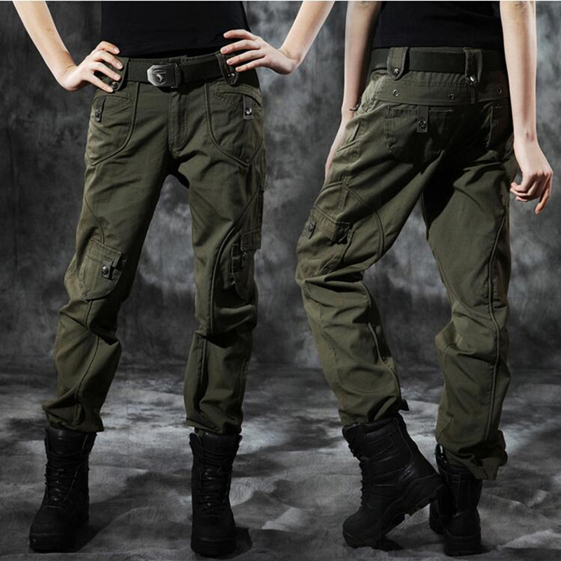 New Women Cargo Pants Military Tactical S port Female Casual Pants