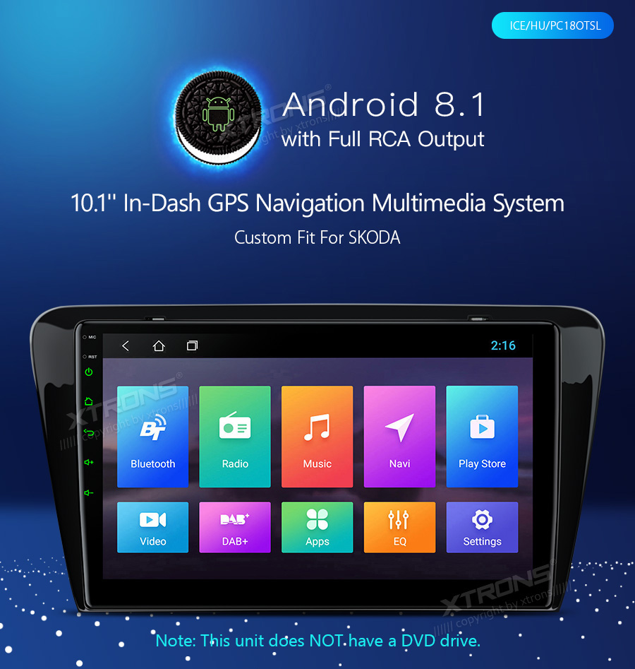 """Clearance 10.1"""" Android 8.1 OS Car Multimedia Navigation GPS Radio for Skoda Octavia 2014 2015 2016 with Split Screen Function Support 1"""