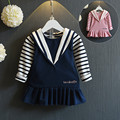 Autumn Baby Girl Dress Cotton Infant Dress striped European Style Vintage Long Sleeve Toddler Dress Birthday Baby Clothes