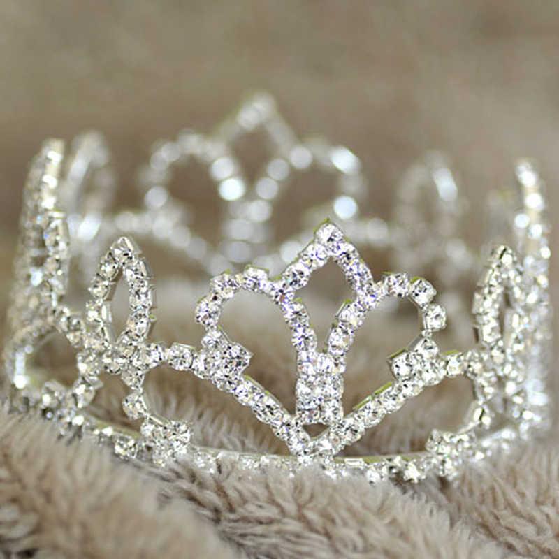 2018 traje de fiesta de bebé Tiara princesa strass corona recién nacido accesorios de fotografía para fotografía de estudio Tiara diadema fotografia