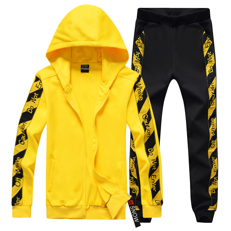 Fashion Printing Hoodies Suit Patchwork Winter Autumn Sweat Suit Comfortable Couple Suit Casual 2 Pieces Outwear Set