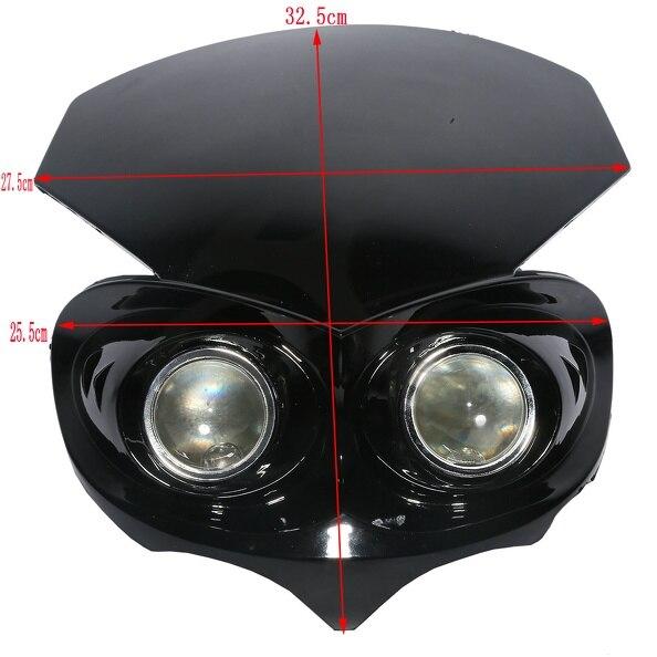 ФОТО Motorcycle Fairing Headlight Super Bright Bulb HeadLamp Street Fighter Dirt Bike