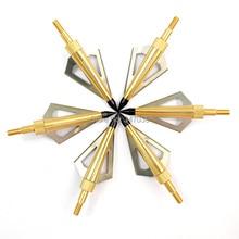 12 pcs Gold 125 grain aftershock arrow head broadhead 3 blade for hunting Beast archery bow