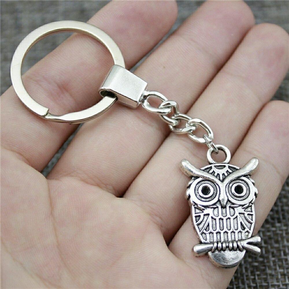 33x21mm Owl Keychain Men Jewelry New Fashion Keychain Party Gift Dropshipping Jewellery