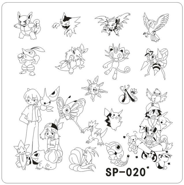 sp 020 nail art template cartoon characters stainless steel stamping