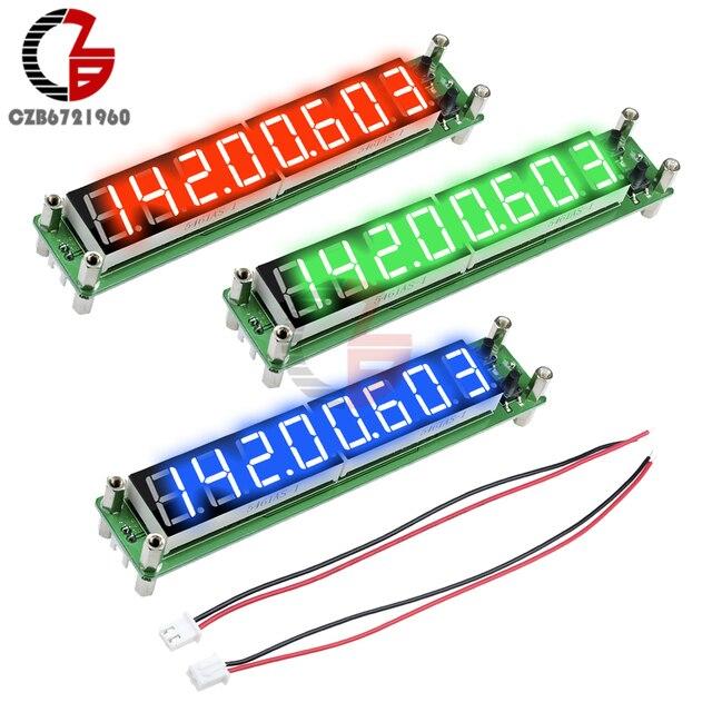 Contador de frecuencia de señal, medidor de temperatura de tubo Digital de 8 dígitos, RF 0,1 a 60MHz 20MHz a 2400MHZ 2,4 GHz rojo verde azul