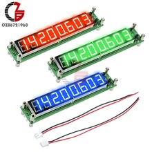 אות תדר מונה RF 0.1 כדי 60MHz 20MHz כדי 2400MHZ 2.4GHz אדום ירוק כחול 8 ספרות צינור דיגיטלי Cymometer מד Tester