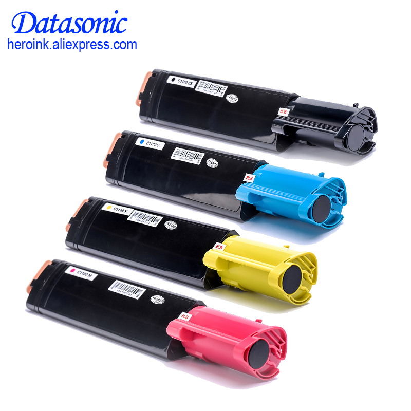 4 Colors High Quality C1100 Compatible Toner Cartridge For Epson C1100 CX11 Priner 4 pack high quality toner cartridge oki mc860 mc861 c860 c861 color printer full compatible 44059212 44059211 44059210 44059209