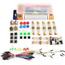 Общие Части Пакета Для Arduino kit + 3.3 В/5 В модуль питания + MB-102 830 точек Макет + 65 Гибкие кабели + перемычка окно