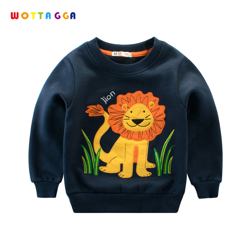 WOTTAGGA Boys Hoodie Sweatshirts Kids Tracksuit Cartoon Engineering Vehicle Pullover Toddler Coat 2018 Fashion Long Sleeve