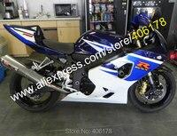 Лидер продаж, для Suzuki GSXR 600 K4 04 05 GSXR 750 GSX R 600 2004 2005 GSX R 750 сине белые мотоцикл обтекатель (инъекции литье)