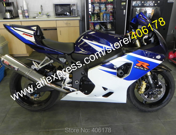 Hot Sales,For Suzuki GSXR 600 K4 04 05 GSXR 750 GSX-R 600 2004 2005 GSX-R 750 Blue White Motorcycle Fairing (Injection molding) lowest price fairing kit for suzuki gsxr 600 750 k4 2004 2005 blue black fairings set gsxr600 gsxr750 04 05 eg12