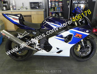 Hot Sales,For Suzuki GSXR 600 K4 04 05 GSXR 750 GSX R 600 2004 2005 GSX R 750 Blue White Motorcycle Fairing (Injection molding)