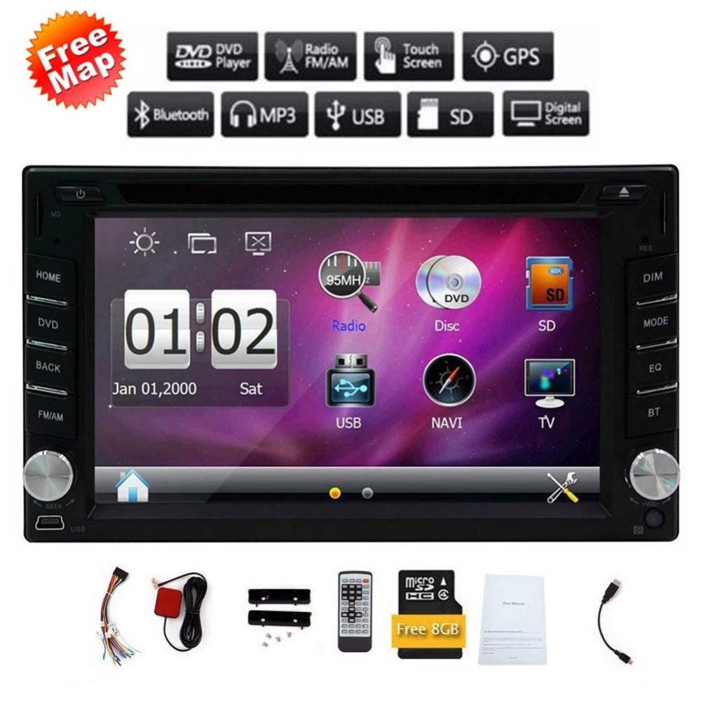 Double 2din Car autoradio GPS Navigation 2 din Car DVD Player with Bluetooth Stereo video+Camera+steering wheel+GPS Navigation 2din car pc dvd gps navigation for 2din car map dvd player car autoradio multimedia stereo audio sd usb bluetooth steering wheel
