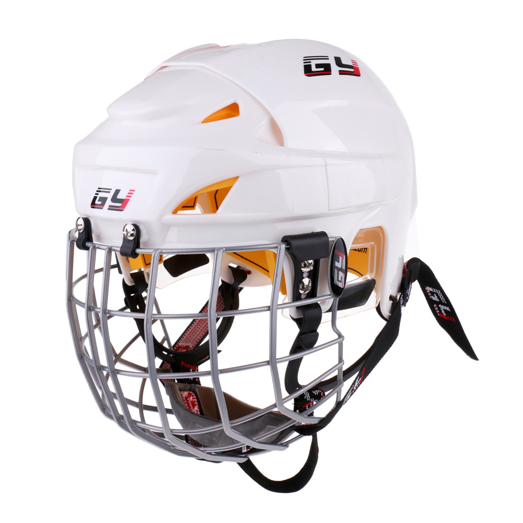 Ice Hockey Helmet Soft EVA Liner with Steel Cage for Player Hockey Face Shield by CE Cage Combo Guard Shield Helmet Mask