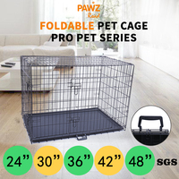 Foldable Collapsible Pet Cage Iron Wire Safe House Mascotas Cachorro Chien Perros Outdoor Double Door Pet Kennel Crate Cover