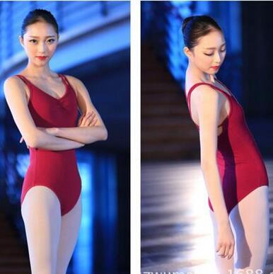 New Cotton Spandex Backless Sleeveless Ballet Leotards For Women Adult Dance Practice Clothes Gymnastics Leotards
