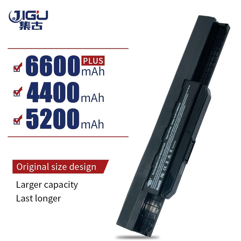 JIGU Laptop Battery For Asus A53B A53E A54C A54H A83B K43B K43E K53B K53E K53Z P43S P53F P53E P53J P53S X43U X43T X43V 6 CELLS