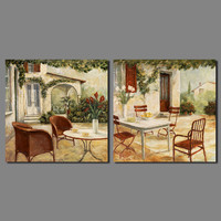 Rétro village Après-Midi Thé décoration Angleterre style Européen mur art photo Toile Peinture salon décor à la maison sans cadre
