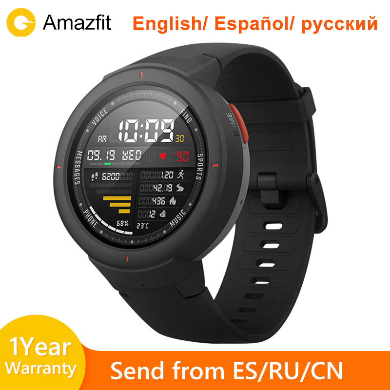Amazfit Verge Global Version Huami Amazfit Sport Smartwatch On board Music Play Make and Call Answer