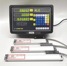 EU USA 3 Achsen digital anzeige mit lineare skala 100 1020mm 5um Res lineare encoder komplette dro kits