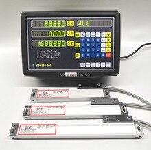 EU USA 3 Assige digitale uitlezing met lineaire schaal 100 1020mm 5um Res lineaire encoder compleet dro kits