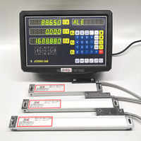 EU USA 3 Axis digital readout with linear scale 100-1020mm 5um Res linear encoder complete dro kits