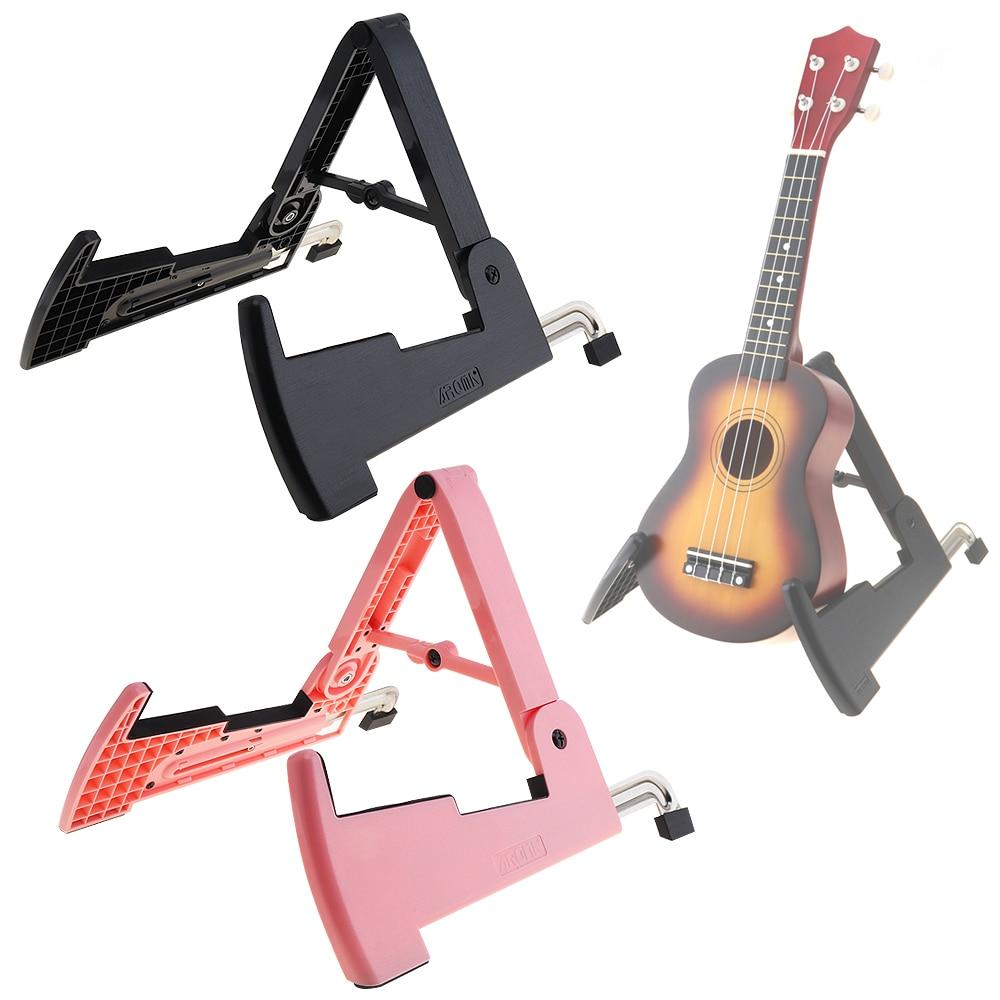aroma foldable guitar bass violin ukulele stand smart musical instrument stand 2 colors optional. Black Bedroom Furniture Sets. Home Design Ideas