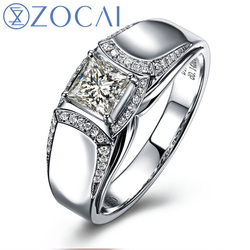 Zocai brand natural 0 65 ct certified h vvs diamond men s engagement wedding band ring.jpg 250x250
