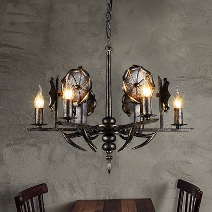 American Wind Industry Iron Droplight LED Vintage Pendant Light Fixtures For Dining Room Antique Hanging Lamp Indoor Lighting loft style american wind industry droplight led vintage pendant light fixtures dining room retro hanging lamp indoor lighting