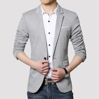 Mens Slim Fit Fashion Blazers Suit Jacket Male Casual Plus size M 5XL Men Blazer Jacket Wedding dress Black Silver Wine
