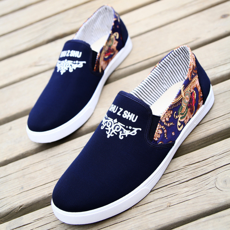 2019 Newest Men Vulcanize Shoes Fashion Sneakers Male Shoes Adult Footwear Comfort Men Shoes Denim Men Loafers Men Shoes Canvas(China)