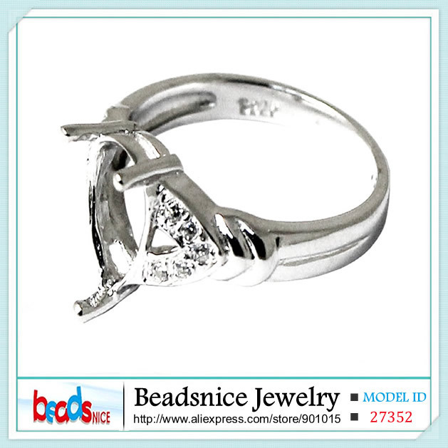 Beadsnice ID27352 Diy 925 sterling silver rings wholesale top quality Semi Mount ring settings without stones for designer