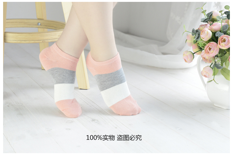 Hot sale!1lot=10pcs=5pair cotton socks cute polka dot women socks soft candy invisible short socks hosiery female Wholesale 4