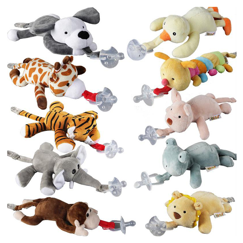 Baby Pacifier Chain Clip Hanging Plush Animal Toy Baby Products Newborn Detachable Pacifier Holder (not include Pacifier)Baby Pacifier Chain Clip Hanging Plush Animal Toy Baby Products Newborn Detachable Pacifier Holder (not include Pacifier)
