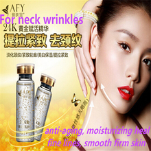 Skin Care 24K Gold Activtion Neck Essence Remove Chicken Skin Wrinkle Anti Aging Moisturizing Whitening High-End Neck Cream