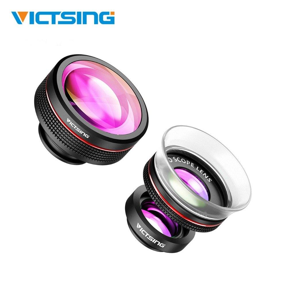 2018 Nuovo VicTsing Universale 3-in-1 Del Telefono Dell'obiettivo di Macchina Fotografica Kit di Clip-On Supremo Fisheye Lens + 12X e 24X Super Macro Lens per iPhone Huawei