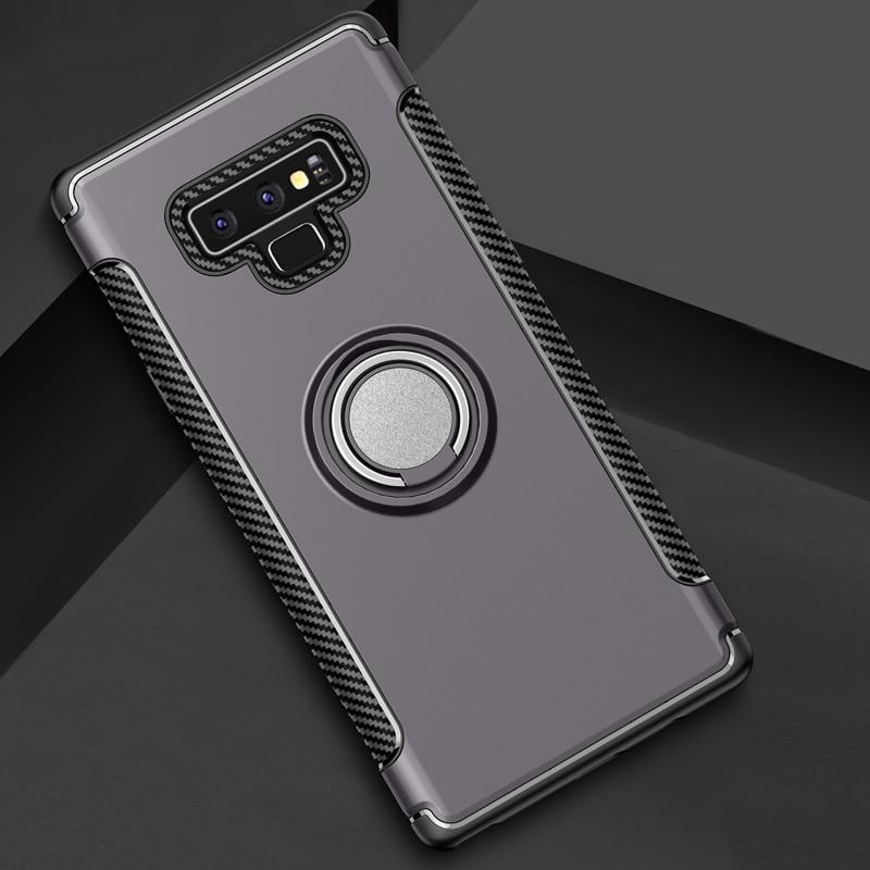 360 Rotating Finger Ring Phone Holder Cover High Quality Magnetic Car Holder Case For Samsung Note 9 Mobile Phoner
