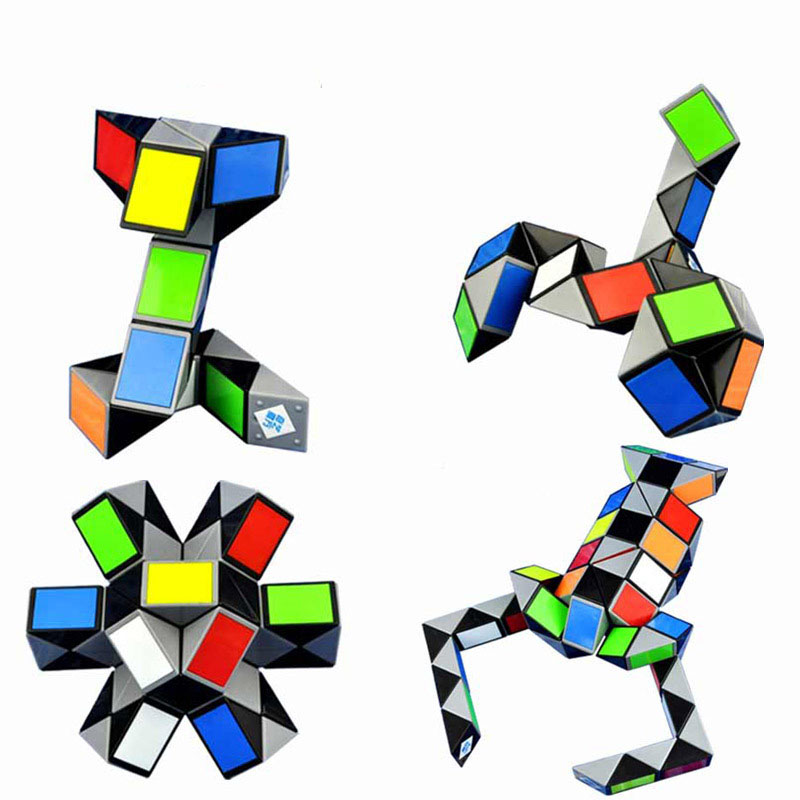 Methodical Hot Colorful 3d Magic Ruler Cube 24/36/48/72 Segments Cubo Magico Snake Twist Cube Puzzle Kid Educational Toys For Children Factory Direct Selling Price Puzzles & Games Toys & Hobbies