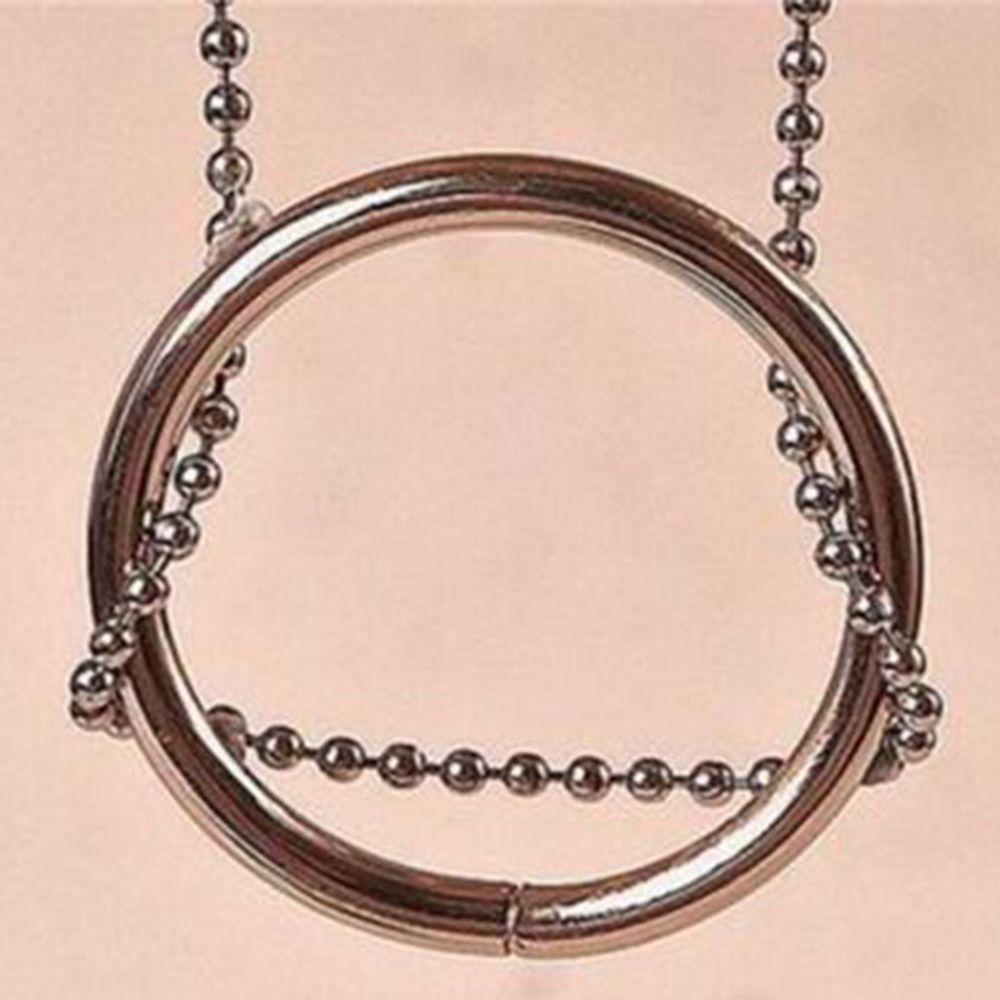 Magischen Ring Kette Metall Zaubertrick Requisiten Knoten MA