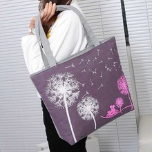 Fashion Dandelion Canvas Bag Flowers Women Handbag Shoulder