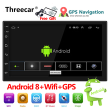 Авто Радио 2 Din Android 8 gps навигация автомобильное радио стерео 7 «1024*600 Универсальный Автомобильный плеер wifi bluetooth usb аудио