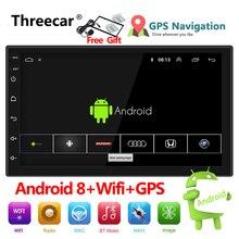 """Auto Radio 2 Din Android 8 di Navigazione GPS Per Auto Radio Per Auto Stereo 7 """"1024*600 Universale Auto Lettore wifi Bluetooth USB Audio"""