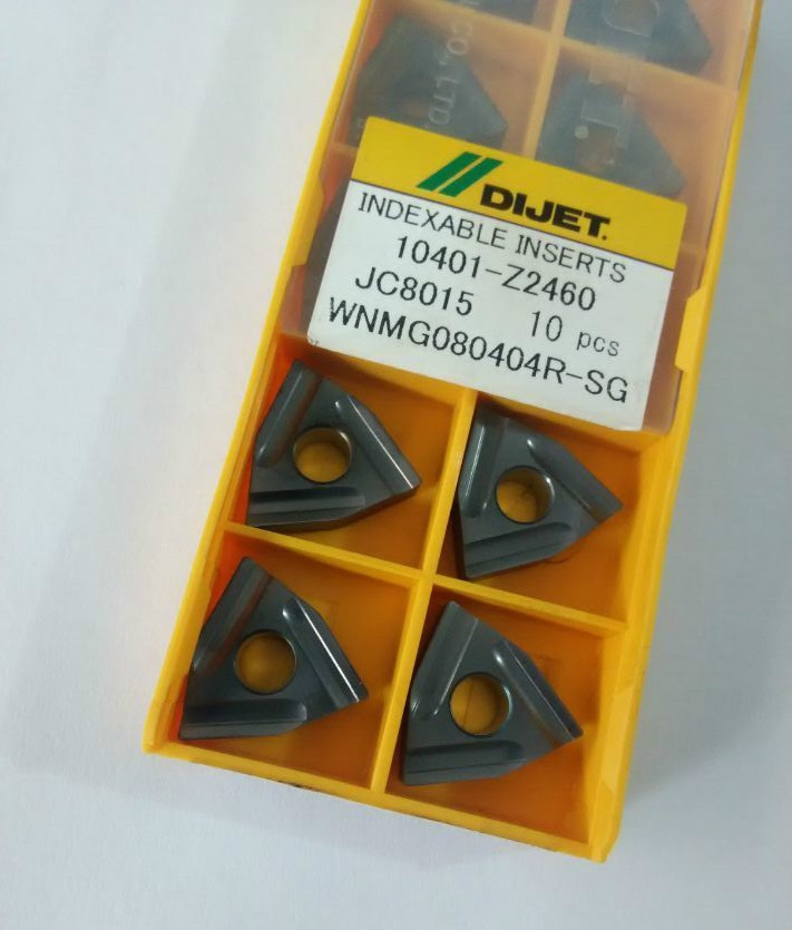 WNMG080404R SG JC8015 Authentic Japan DIJET CNC blade carbide inserts turning tools JC8015 WNMG080404R SG