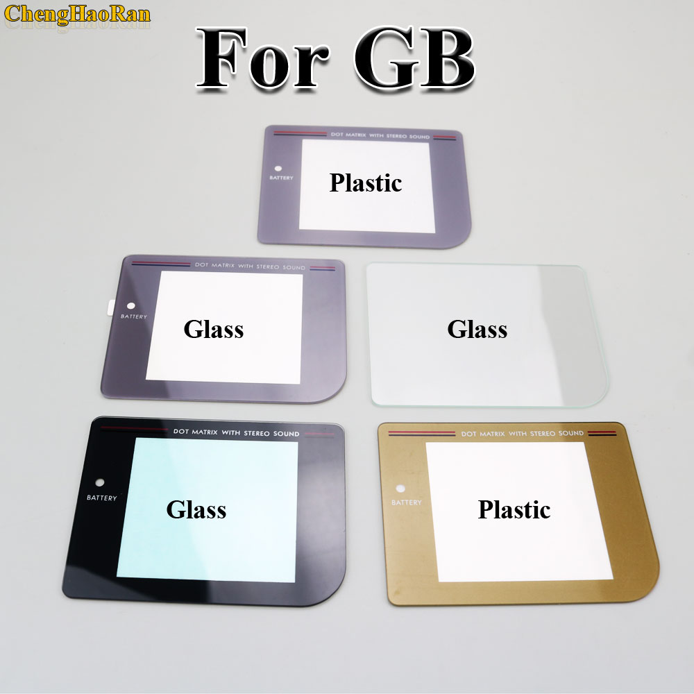 7models Glass Pikachu Plastic Grey Replacement Protective Screen Lens For Nintendo Gameboy Classic GB Lens Protector Mirror