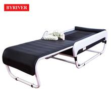 BYRIVER 2018 лучший 3D электрическая массажная кровать Корея V3 ППМ Авто позвоночника сканирования Термальность задняя strectcher массажер слайд складной дизайн