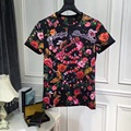 High quality New Fashion Women 2017 Spring Summer T-shirt Runway European Designer shirt 2118