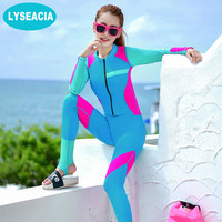 Colorful Sexy Slim Wetsuits Women One Piece Swimwear Push Up Female Surfing Diving Swimsuits Elastic Wetsuit