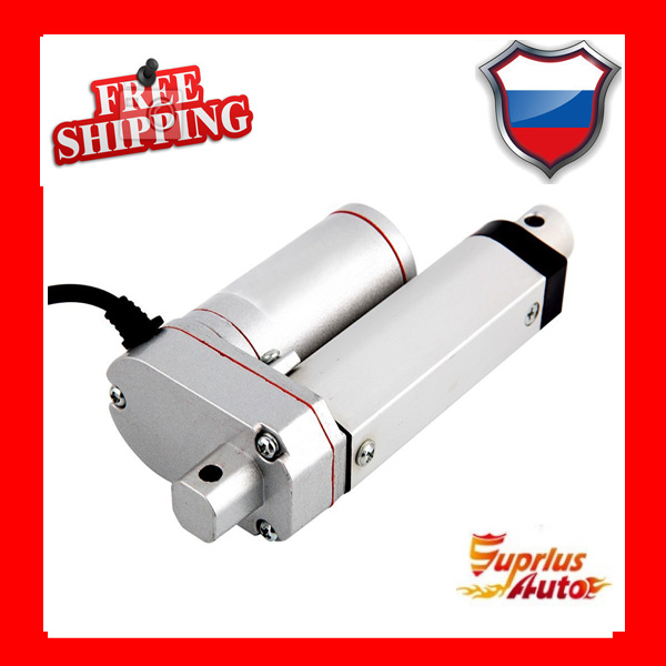 Free Shipping DC 12 / 24V 2inch / 50mm Linear Actuator, 1000N / 100kgs Load Linear Actuator 50mm 2inch load multi function linear actuator for diy 5kw dual axis solar tracking tracker